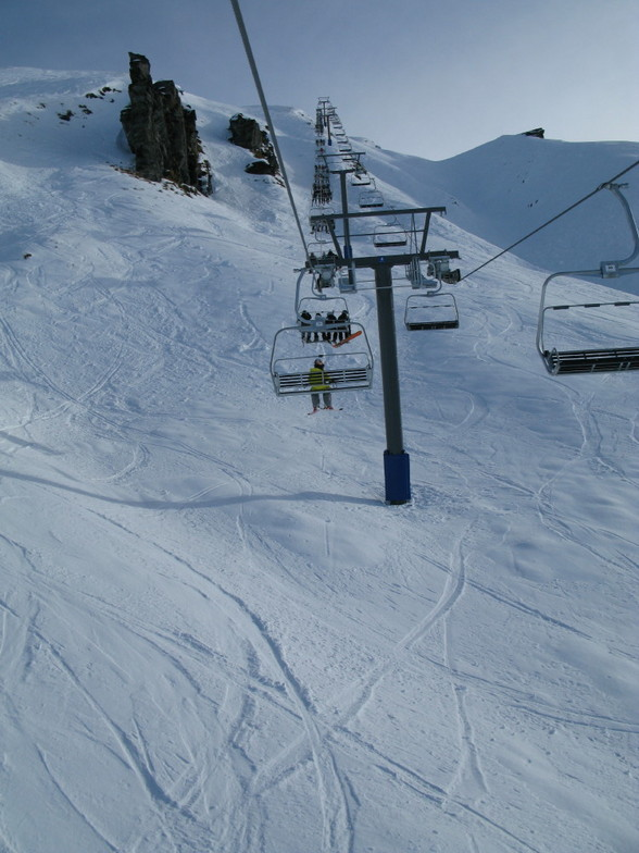 Opening weekend, June 2009. Saddle chair, Treble Cone