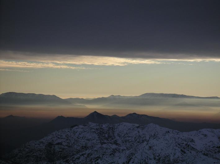 View over Santiago de Chile, El Colorado