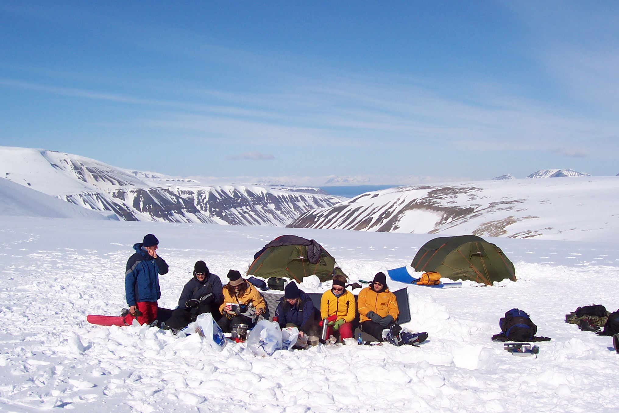 breakfast, spitsbergen 80 degrees north, Narvik
