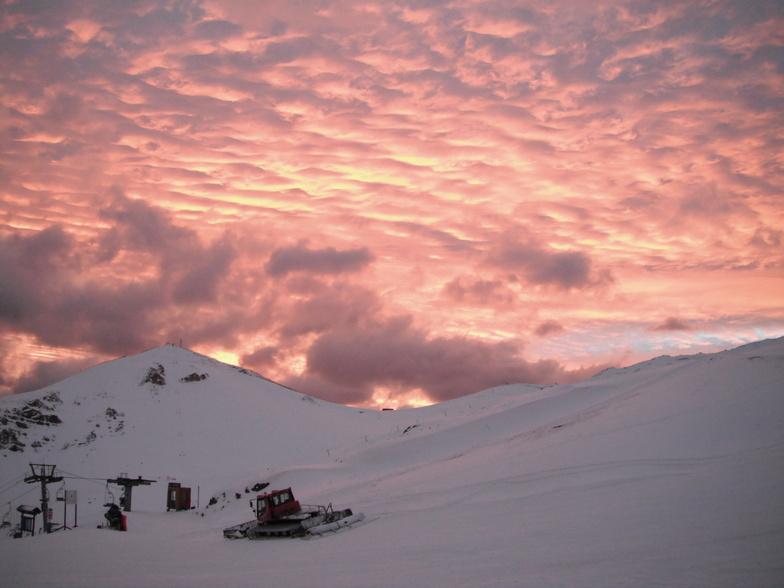 Sunset over Valle Nevado