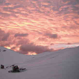 Sunset over Valle Nevado