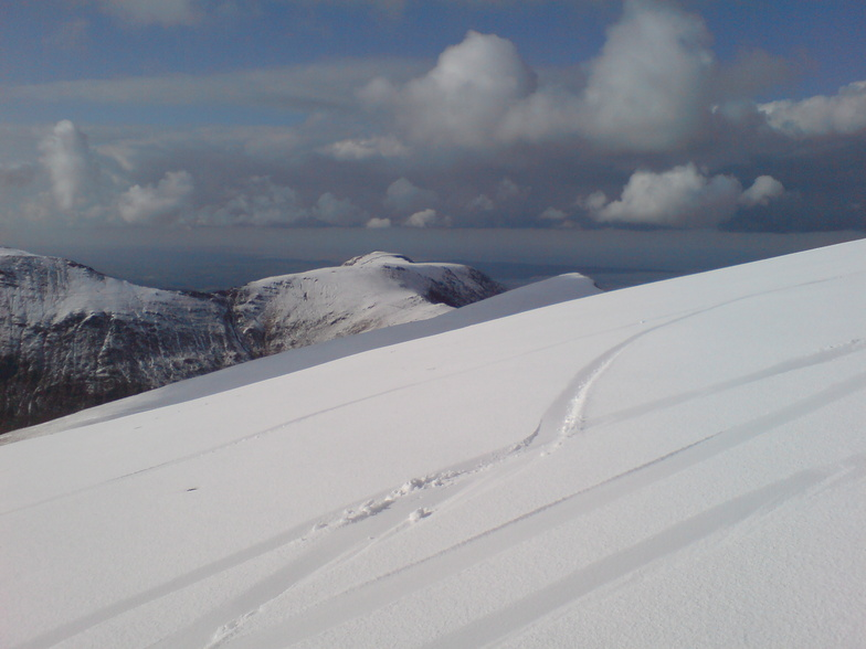 From Y Garn Snowdonia looking towards Foel Goch and Mynydd perfedd and further back anglesey