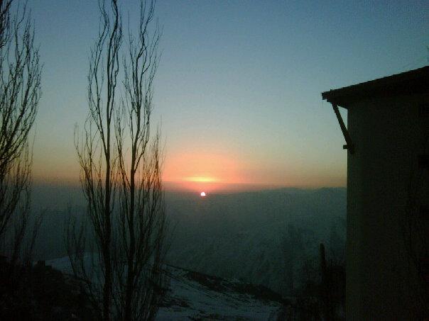 Pôr do sol, La Parva