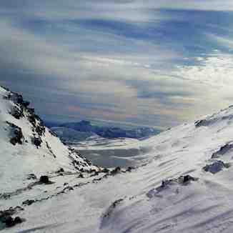 desde la torre 23 andarivel El Otto, Nevados de Chillan
