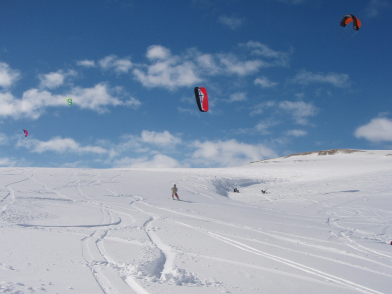 snow kiting at snow farm is pretty awesome
