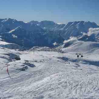 Tracks in the snow!, Alpe d'Huez