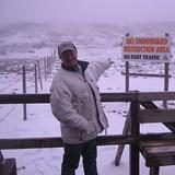 RICHIE  HOBDEN IN  THE  SNOW, Ben Lomond