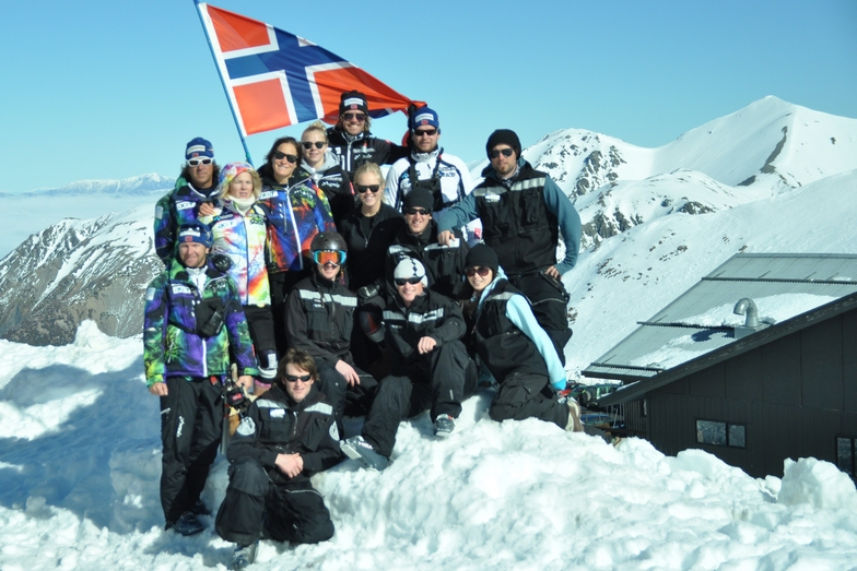 Norwegian Alpine WC ladies Team and the great staff on Hutt, Mount Hutt