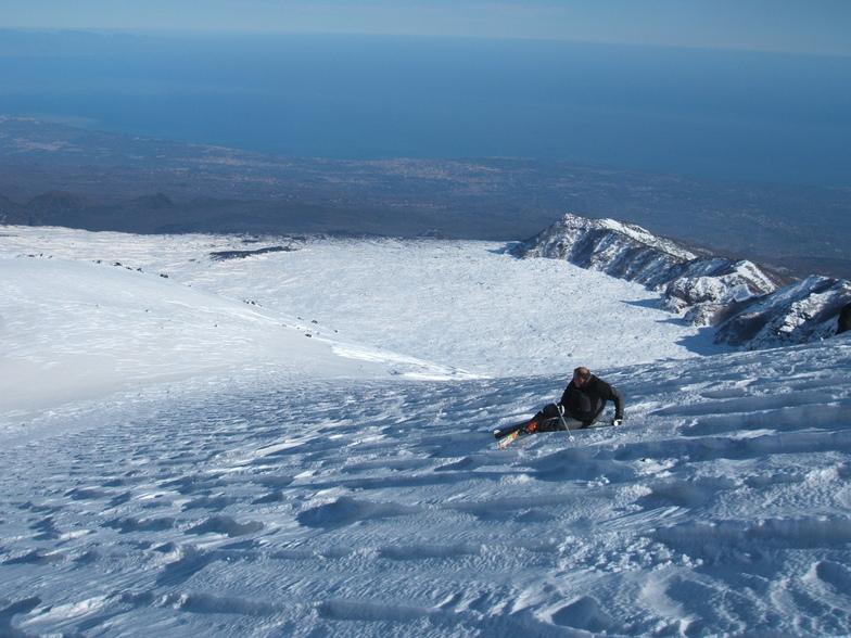 Skiing on Mount Etna, Sicily, Mount Etna Nicolosi