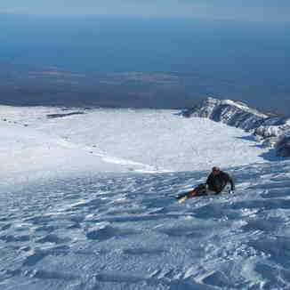 Skiing on Mount Etna, Sicily, Mount Etna Sud Rifugio Sapienza Nicolosi