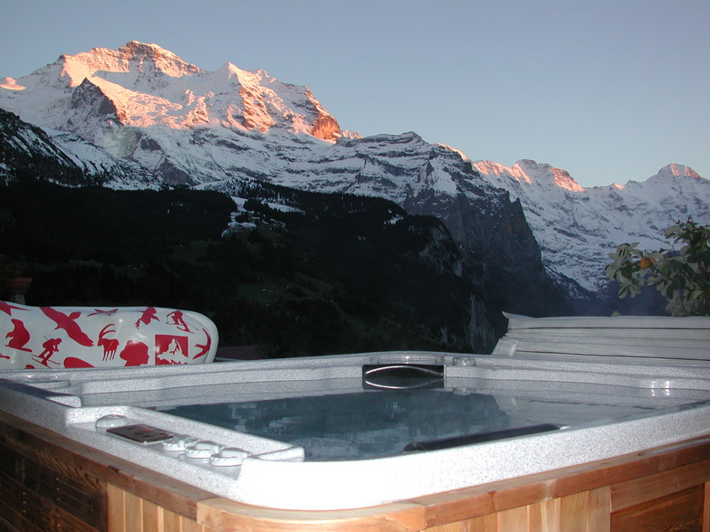 Wengen Switzerland Hot tob Hotel Bellevue