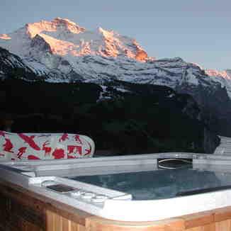 Wengen Switzerland Hot tob Hotel Bellevue