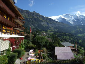 Wengen vilage with Jungfrau photo