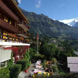Wengen vilage with Jungfrau