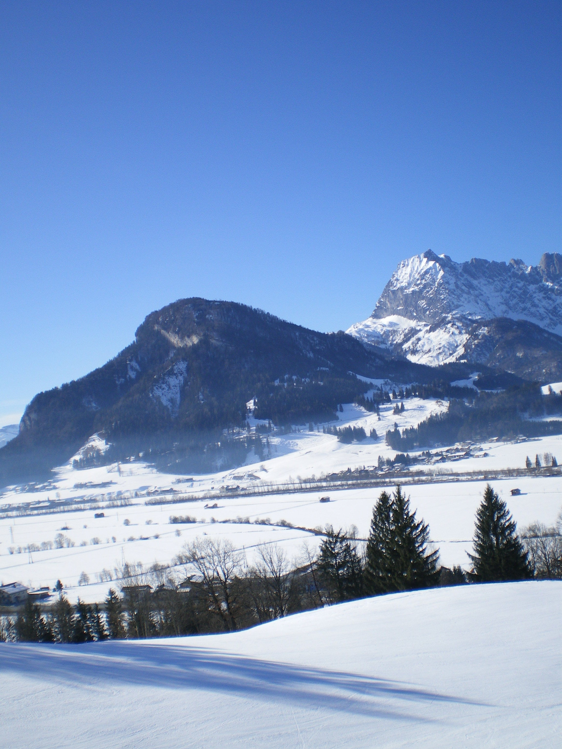 looking over the village from the 4 man chairlift, Kirchdorf