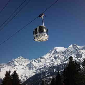 Cable car, Les Contamines