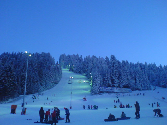 Borovetz by night, Borovets