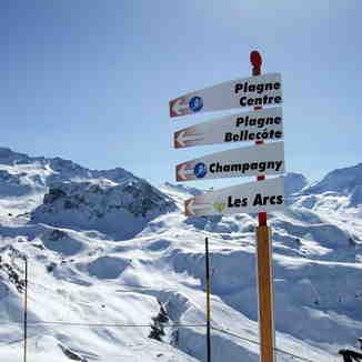 Le Glacier de Bellecôte (3250m), La Plagne