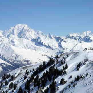 Le Mont-Blanc depuis l'Arpette (2400m)., La Plagne