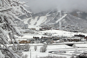 Steamboat Snow Area - Early snow October 2010 photo