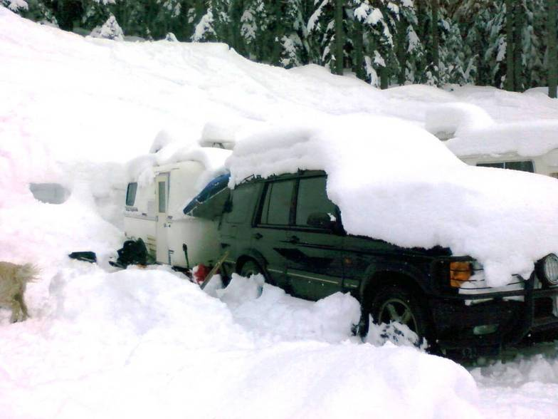 Just a Normal Day in the Parking Lot, Stevens Pass