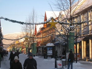 Christmas street of Lillehammer, Hafjell photo