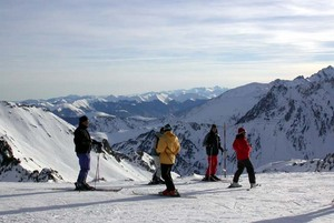 Family gathering on the top, Grand Tourmalet-Bareges/La Mongie photo