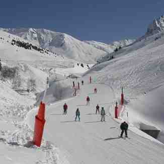 Blue run down to the ski car park - Bastan, Grand Tourmalet-Bareges/La Mongie