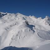 top of the ski slopes Monêtier, Serre Chevalier