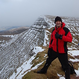 Crisp cold conditions, Pen-y-Fan