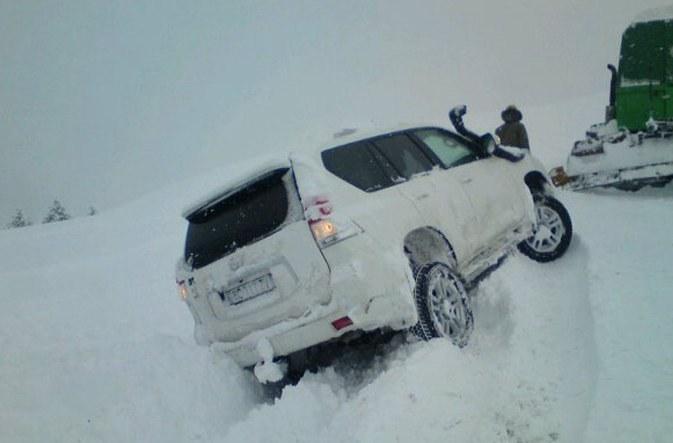 Heavy snow in la Clusaz