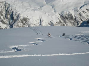 Harriet and Charlie Girose Glacier La Grave 2009, La Grave-La Meije photo