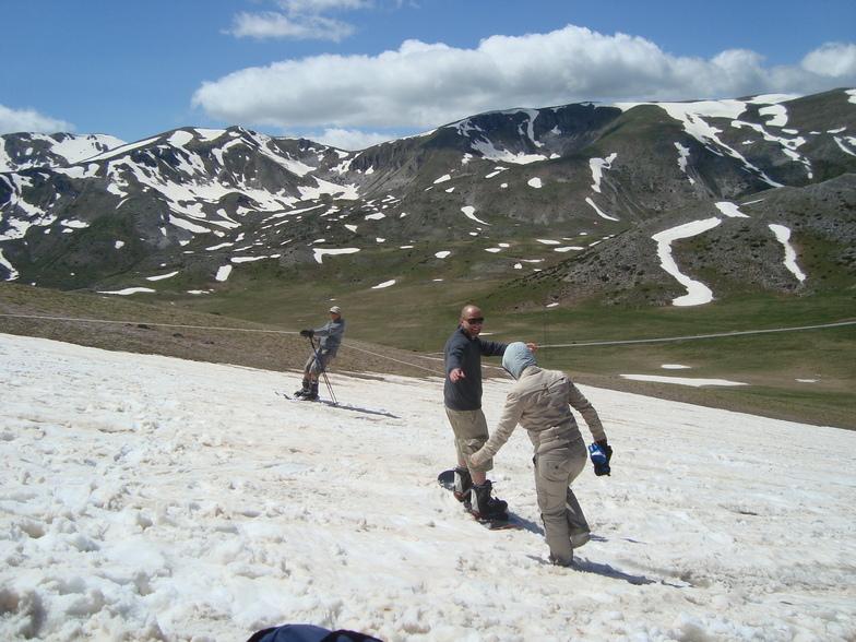 Skiing in May, Resort Mavrovo