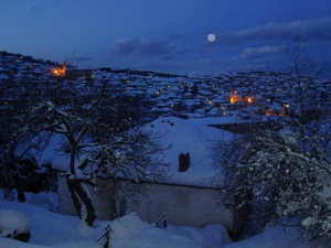 Night wiew to the baeautiful small town, Krushevo photo