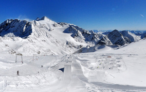 Beautiful morning, Stubai Glacier photo