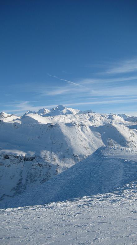 View Towards Mont Blanc, Les Carroz
