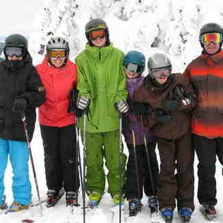 Family ski day, Apex Resort