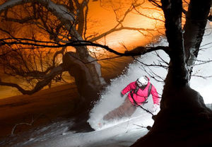 Japan snowboarder, Niseko Weiss photo