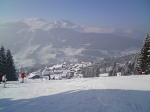 Mont Cherie in the distance, Morzine photo