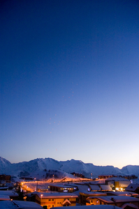 Sunset after the snow clouds have gone, Alpe d'Huez photo