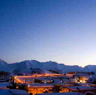 Sunset after the snow clouds have gone, Alpe d'Huez