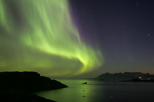 Northern Lights in East Greenland, Kungmiut photo