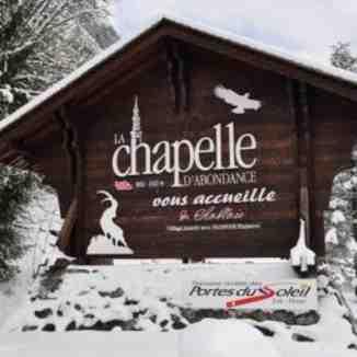 Gateway to La Chapelle d'Abondance