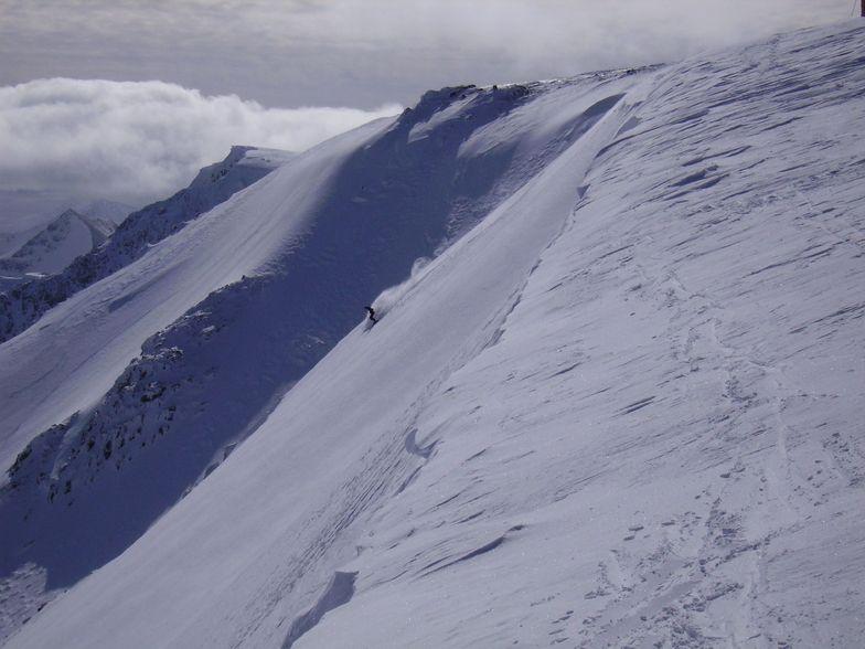 Epic offpiste day at Nevis Range Scotland 15 March 2008