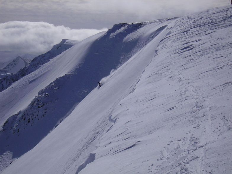 Epic offpiste day at Nevis Range Scotland 15 March 2008