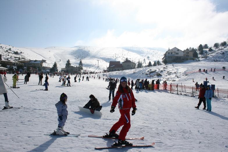 ski lesson, Seli