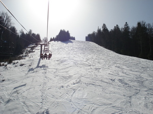 Predeal lift and black run photo