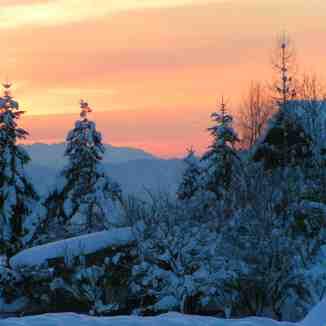 Sunset in Söll Ski Resort