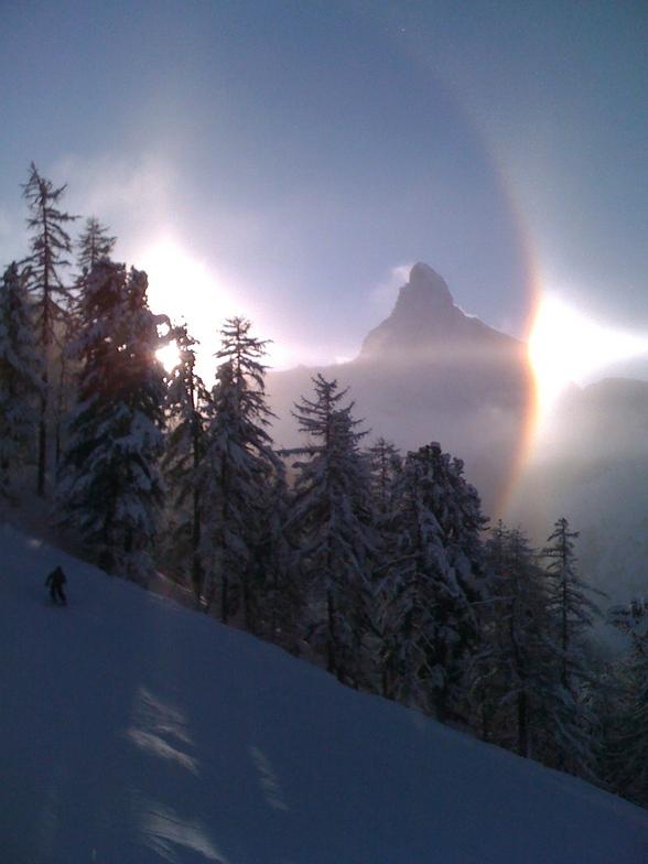 Unusual conditions in Zermatt