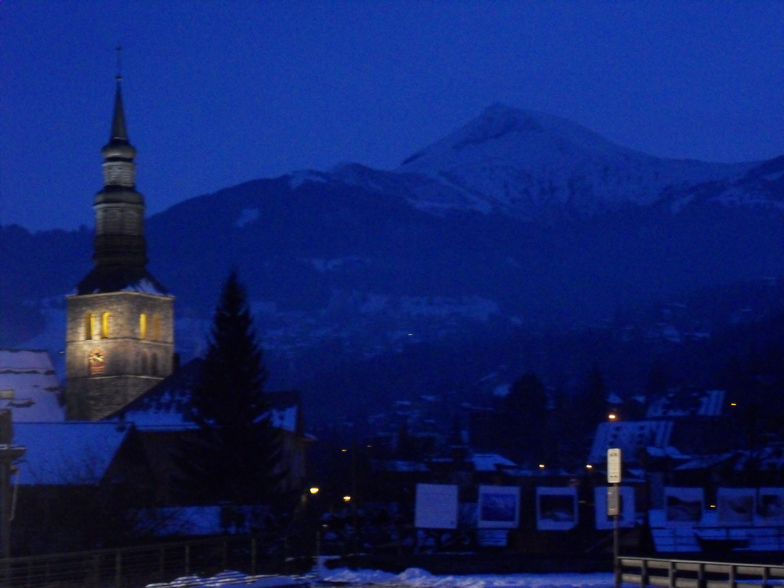 St Gervais town centre, with Mont Joly in the background, Saint Gervais